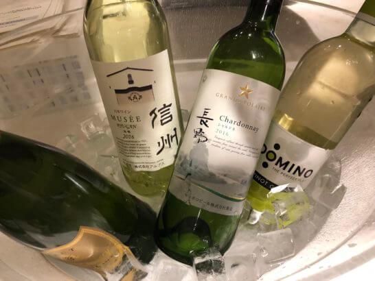 軽井沢マリオットのカクテルタイムのワイン