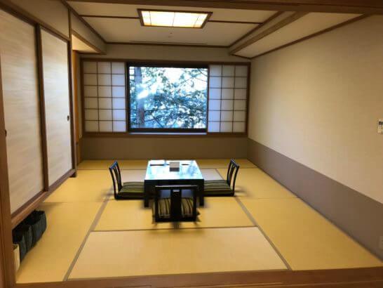 軽井沢マリオットのエグゼクティブスイートの和室