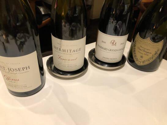 赤ワイン3本とドン・ペリニヨン