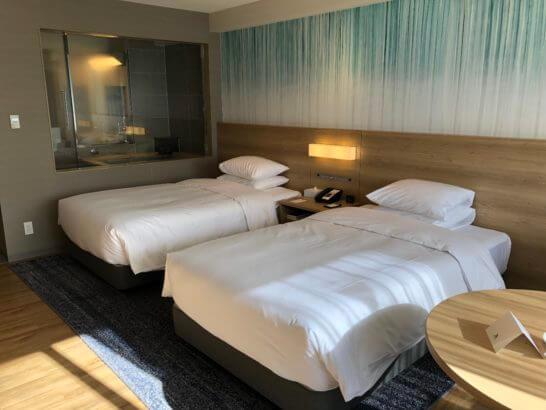 富士マリオットホテルのベッド