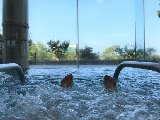 ヒルトン小田原のプールのジャグジー