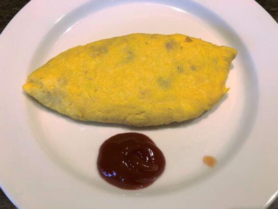 軽井沢マリオットの朝食のオムレツ
