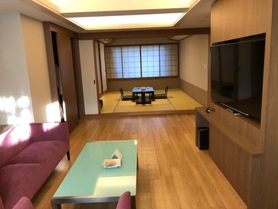 軽井沢マリオットのエグゼクティブスイートの部屋