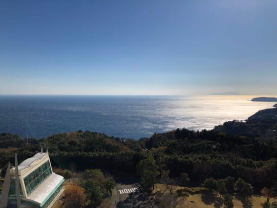 ヒルトン小田原の窓からの眺め