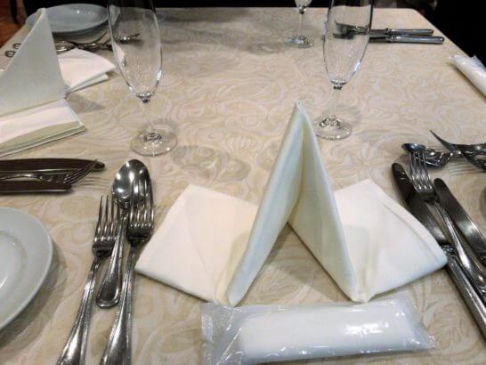 伊勢丹のコース料理 (テーブル)