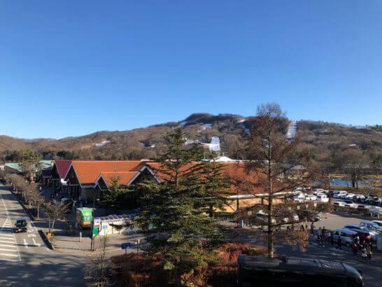軽井沢駅からの眺め