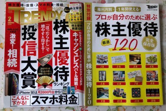 日経トレンディ(2019年2月号)の本体と付録