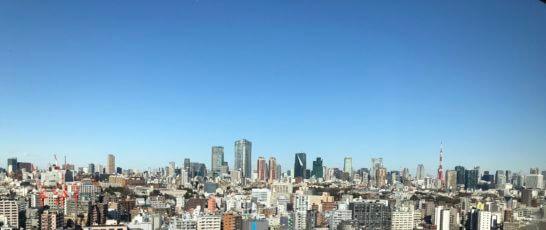ウェスティンホテル東京のエグゼクティブ クラブラウンジからの景色