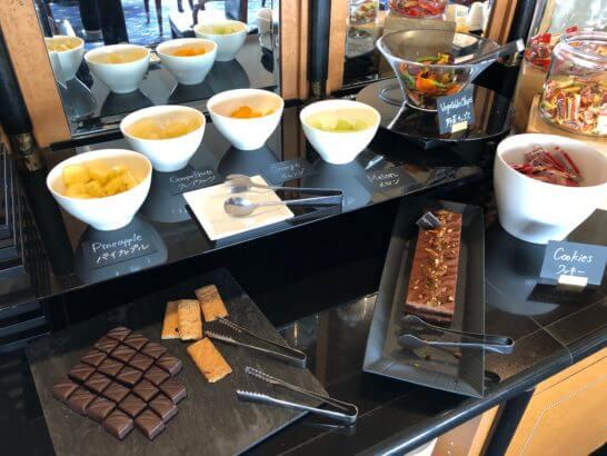 ウェスティンホテル東京のエグゼクティブ クラブラウンジのフルーツ