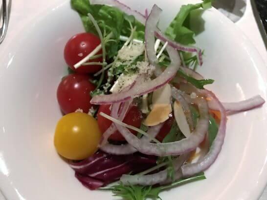 ウェスティンホテル東京のザ・テラスのディナー (サラダ) (2)