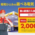 昭和シェルの選べる電気のキャンペーン