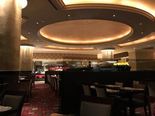 ウェスティンホテル東京のザ・テラスのディナータイム