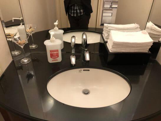 ウェスティンホテル東京 エグゼクティブ クラブラウンジのトイレ