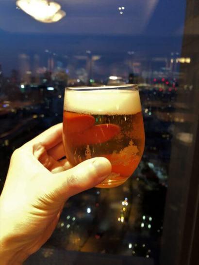 ウェスティンホテル東京 エグゼクティブ クラブラウンジのエビスビール