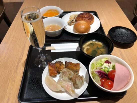 サクララウンジ(国際線)の食事