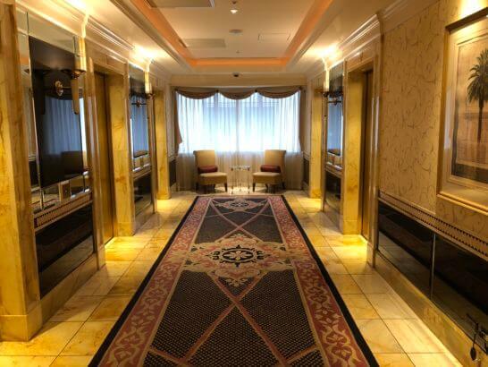 ウェスティンホテル東京の22Fのエレベーターホール