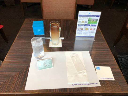 東京国立博物館の「THE GREEN Cafe」の無料ドリンク