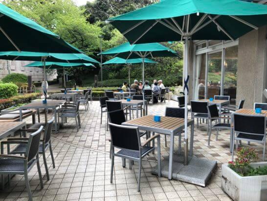 東京国立博物館のThe Green Cafeのテラス席