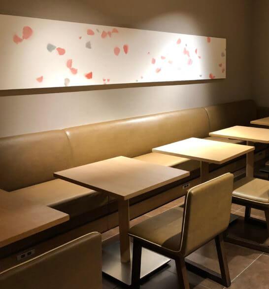 サクララウンジ(羽田空港国際線)の桜アート