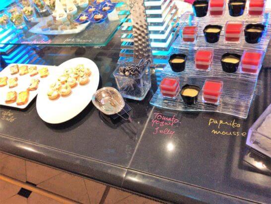 ウェスティンホテル東京のザ・テラスのディナー (オードブル2)