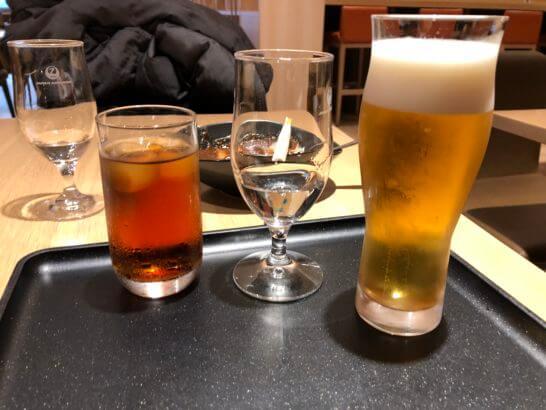 サクララウンジ(羽田空港国際線)のビール、日本酒等