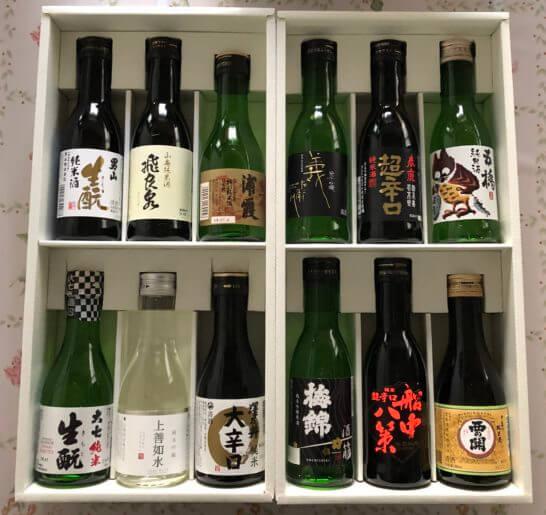 ANAショッピングで購入した日本酒セット