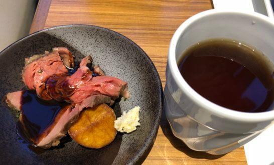 神戸ベイシェラトンホテルの香草マリネのローストビーフ