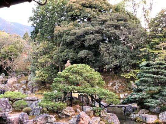 醍醐寺の三宝院の庭園のアップ