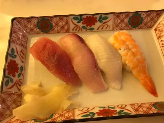 ウェスティンホテル京都のアクアブルーのお寿司
