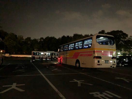 アメックスの醍醐寺の送迎バス