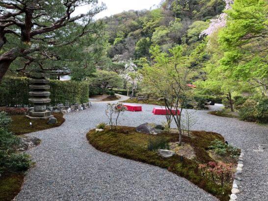 翠嵐 ラグジュアリーコレクションホテル 京都の京翠嵐からの景色