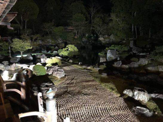 醍醐寺の三宝院の庭園(ライトアップ)