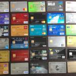 多数のクレジットカード