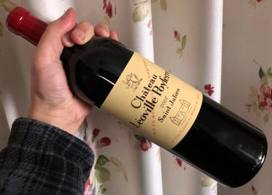 JALショッピングで買ったファーストクラス搭載の赤ワイン (シャトー・レオヴィル・ポワフェレ 2007)