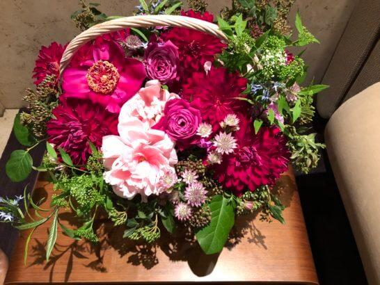 フランス大使館の花