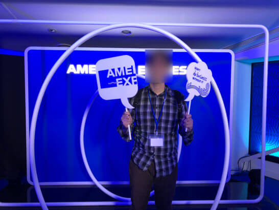 アメックスのイベント「#AmexLife」2Fの記念撮影コーナー
