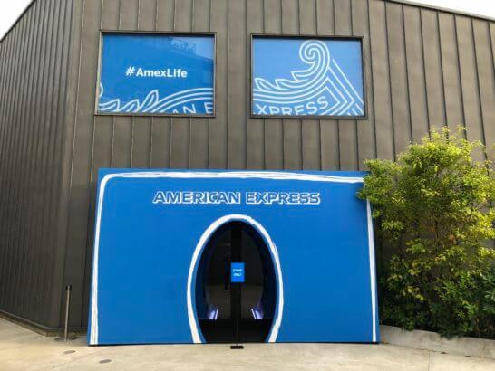 アメックスのハイブリッド体験型イベント「#AmexLife」の会場