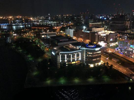 ヨコハマインターコンチネンタルホテルのシティービューの夜景