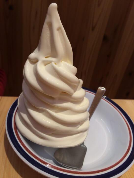 コメダ珈琲店のソフトクリーム