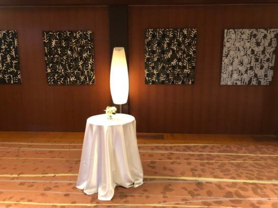 LA LISTE日本最優秀レストランを祝うレセプションの表彰部屋