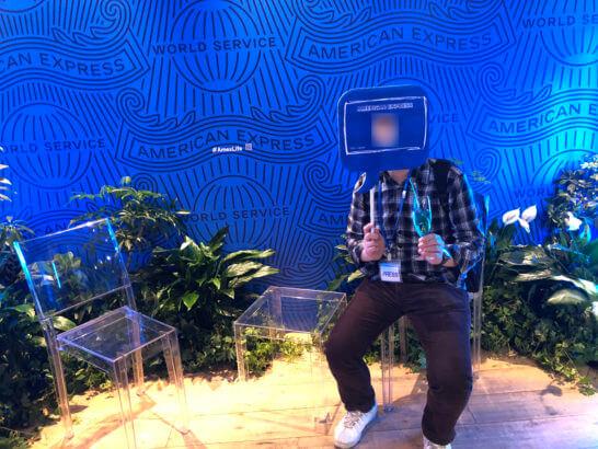 #AmexLifeの会場 1Fの記念撮影コーナー