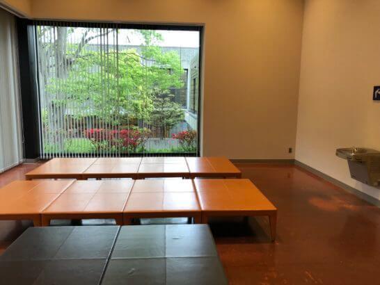 東京西洋美術館の休憩スペース