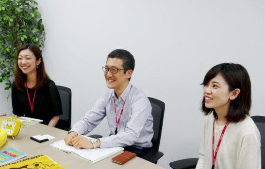 dカードの梶浦さん、久保田さん、井崎さん