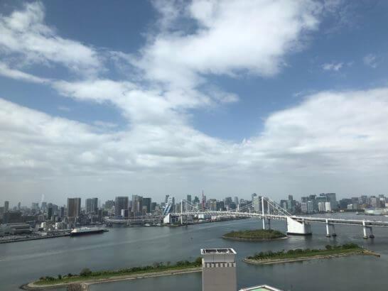 グランドニッコー東京台場のレストランからの眺め