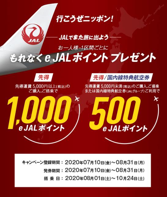 e JALポイントのキャンペーン