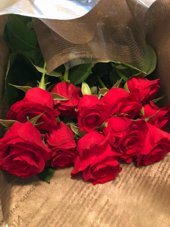 JCBゴールドフラワーサービスで購入したスペシャルローズS(花のアップ)