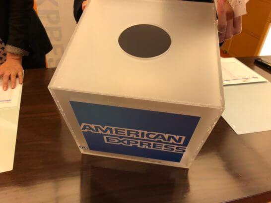 アメックス・プラチナのダイニング・イベントの抽選クジが入ったボックス
