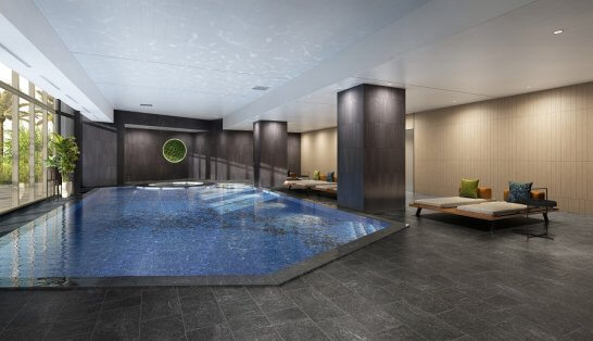 ヒルトン沖縄瀬底リゾートの屋内プール