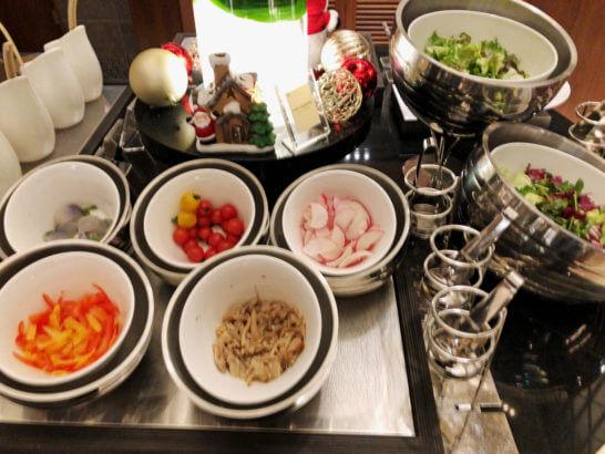 横浜ベイシェラトン ホテルのクラブラウンジの生野菜