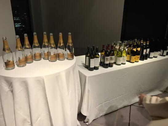 アメックス・ビジネス・プラチナのイベント「DISCOVERY」で提供されたワイン